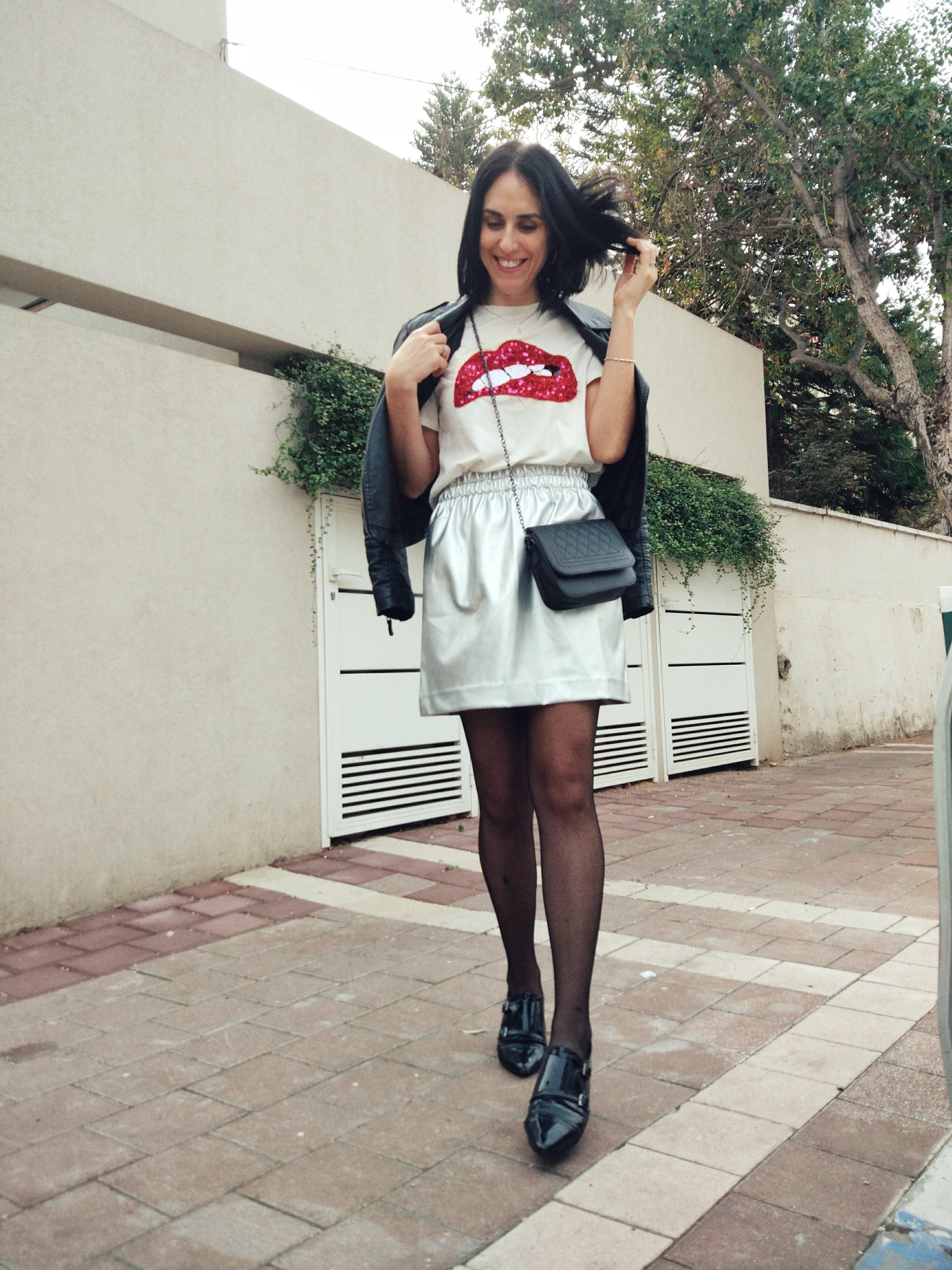 חצאית מטאלית