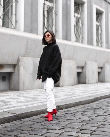 אופנה בלוג פאשניסטה פשנגה בלוגריות יובל fashion blog blogger fashionista נעליים אדומות מינימליסטי red shoes אינסטגרם instagram