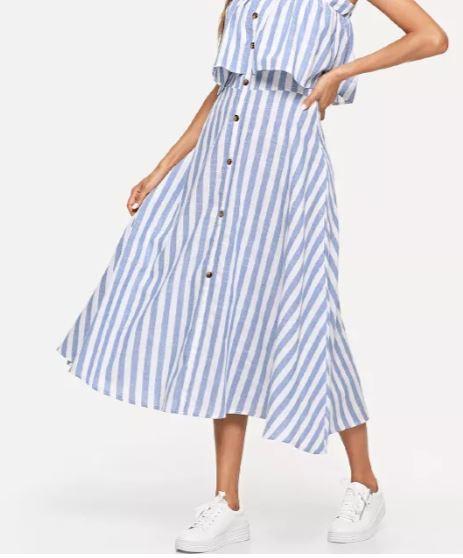 שמלת פסים באורך מידי