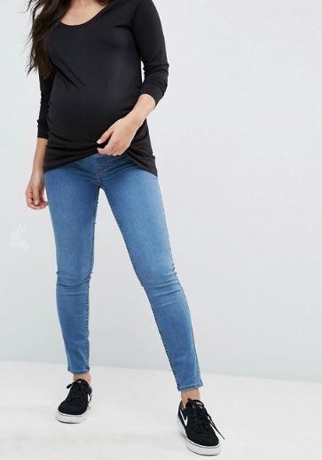 ג'ינס היריון כחול אסוס