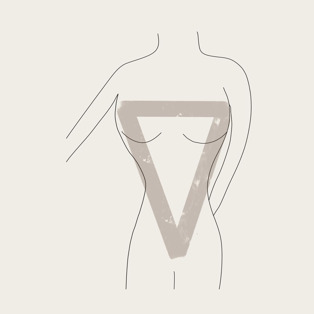 מבנה גוף משולש הפוך