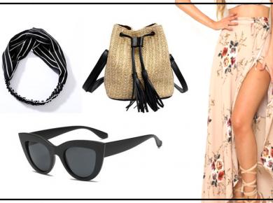 fashanga says קניון אונליין ebay איביי שופינג טרנד שמלה חצאית תיק קש פשנגה