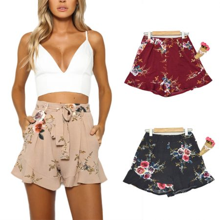 fashanga says מכנסיים קצרים שורטס פרחוני פרינט איביי ebay טרנד קניות אונליין קניות באינטרנט