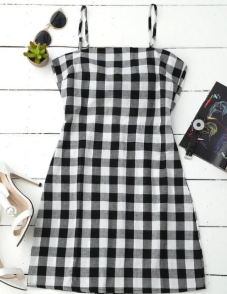 שמלה שמלת משבצות טרנד shein קניות שופינג fashanga says פשנגה