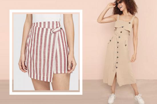 זול המלצות פשנגה fashanga says טרנד חצאית שמלה פסים קיץ 2018 אופנה בגד ים