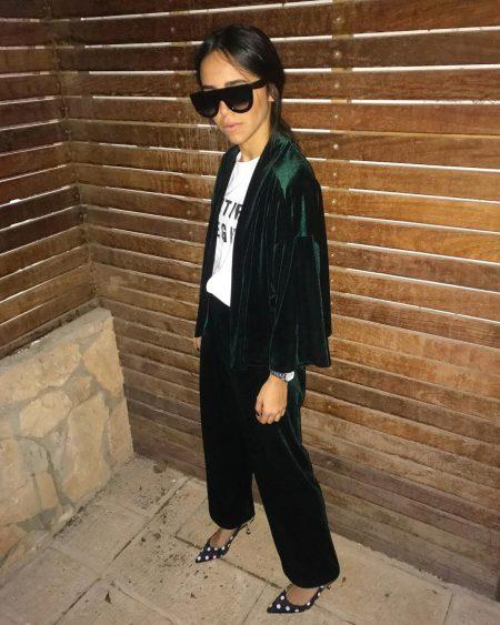 חליפה חליפות פסטל מושלם פשנגה בלוגריות קטיפה suit suits trend טרנד אופנה 2018 אביב קיץ