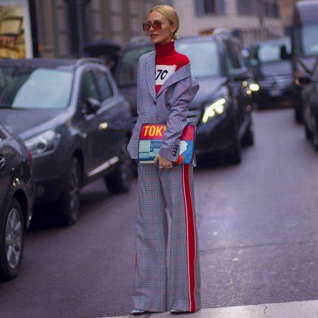 מילאנו שבוע האופנה חליפות טרנד חליפה משבצות אופנה fashion week milan suit suits
