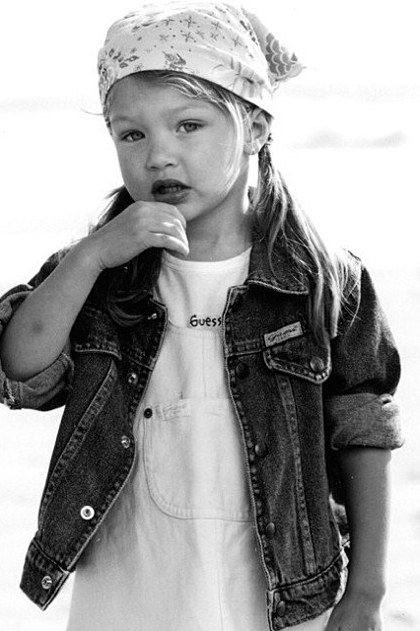 ג'יג'י חדיד דוגמנית ילדה סלבס ילדים