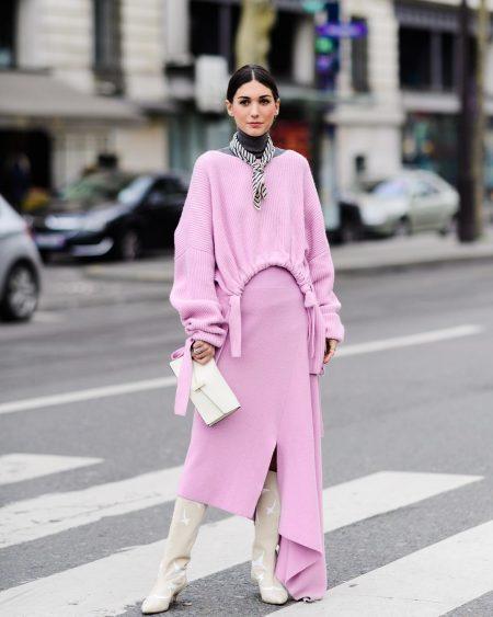song of style איימי סונג בלוגרית fashionista סגול לילך טרנד צבעי פסטל אופנה טרנדים צבעים מכנסיים חולצה סטייל