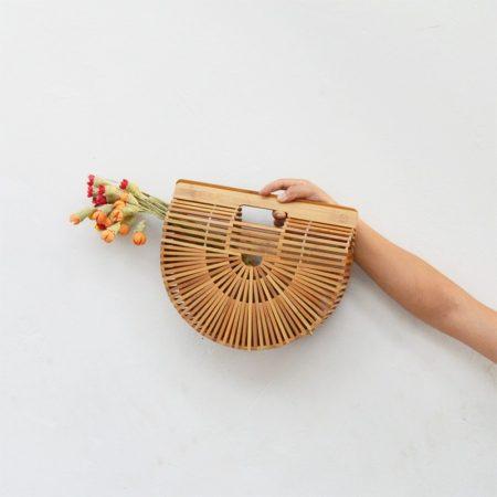 שבועות חגיגי חג טרנד fashanga style תיק עץ במבוק קש טרנד