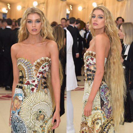 סטלה מקסוול מט גאלה 2018 שמלה met gala nyc סלבס