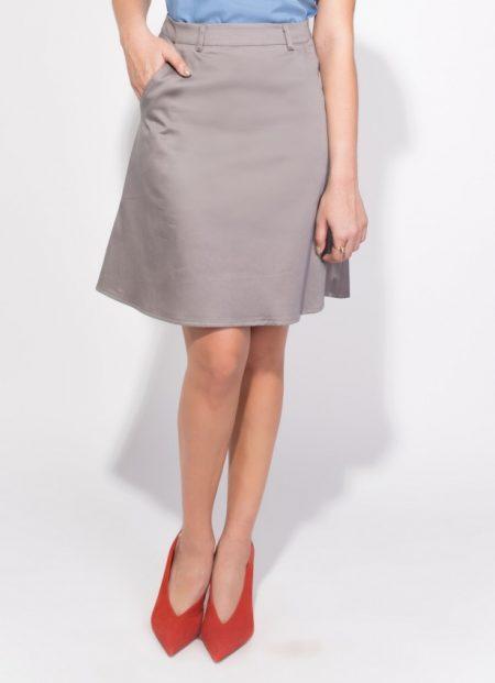 לבוש משרדי body cover טרנדים יומיום לבוש משרד חצאית מידי אפורה עבודה