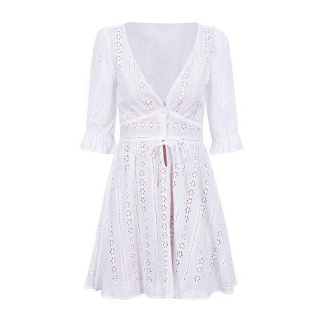 שמלה לבנה שבועות בוהמיין גירל bohemian girl חגיגי חג טרנד לבן