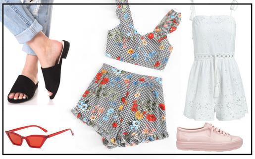 פשנגה מבצע אופנה 2018 קיץ שמלה חצאית נעליים משקפי שמש בגד ים לוהט קיץ סייל הנחה מבצע טרנד טרנדים אופנה אקססוריז תכשיטים