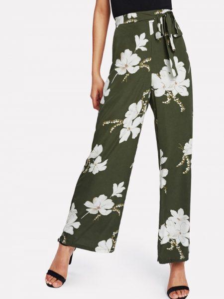 שבועות חגיגי חג טרנד fashanga style פירחוני פרחים פרח ירוק מכנסיים