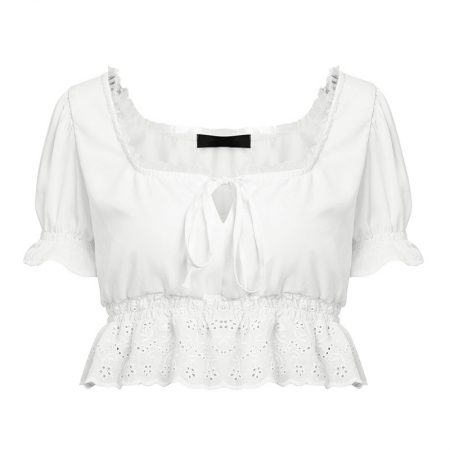 פשנגה מבצע אופנה 2018 קיץ טרנד חולצה לבנה לבן מלמלה רומנטי
