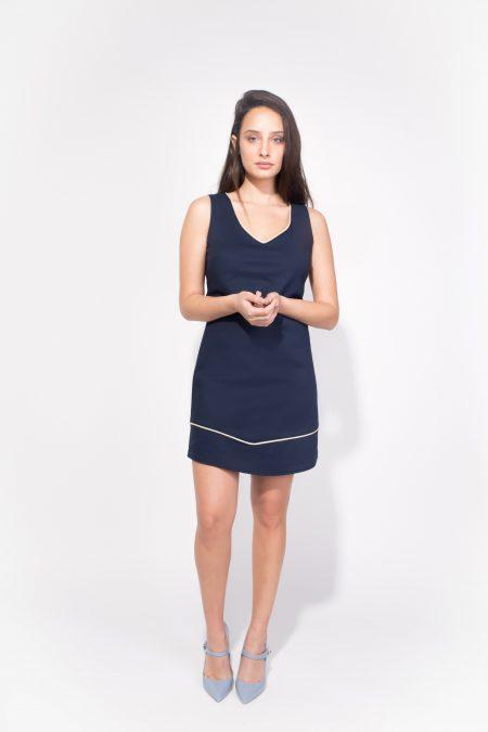 לבוש משרדי body cover טרנדים יומיום לבוש משרד שמלה כחולה מידי עבודה