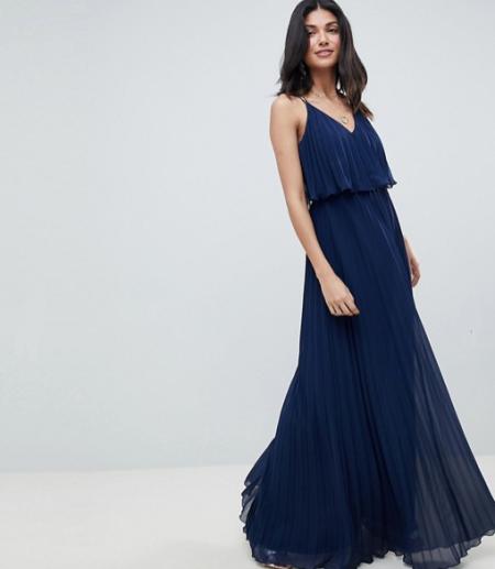 שמלה שמלות נשף 2018 אסוס asos פשנגה fashanga style חגיגי כחול כהה מקסי