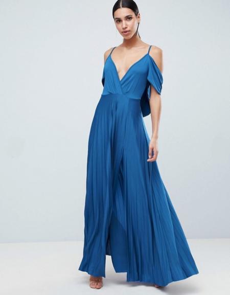 שמלה שמלות נשף 2018 אסוס asos פשנגה fashanga style חגיגי כחול