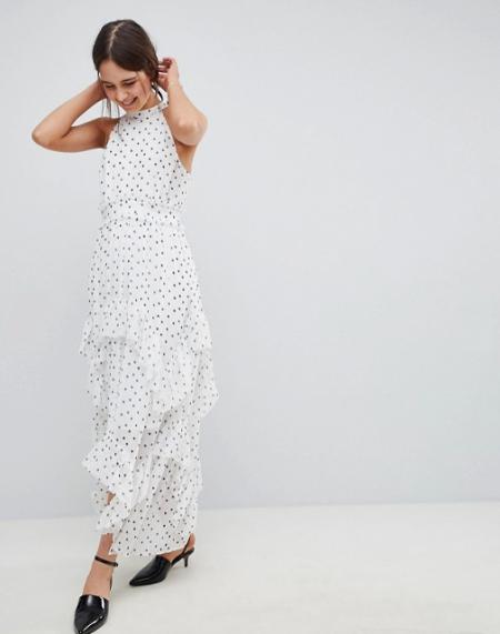 שמלה שמלות נשף 2018 אסוס asos פשנגה fashanga style חגיגי נקודות polka dots