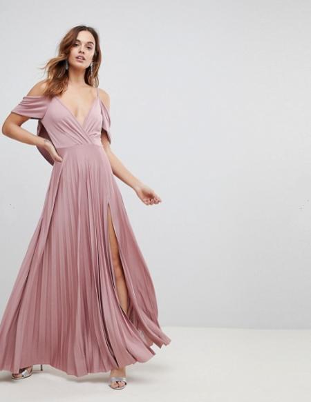 שמלה שמלות נשף 2018 אסוס asos פשנגה fashanga style חגיגי ורוד