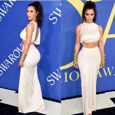 קים קרדשיאן kim kardashian שמלה wang CFDA פרס אירוע משפיענית פשנגה