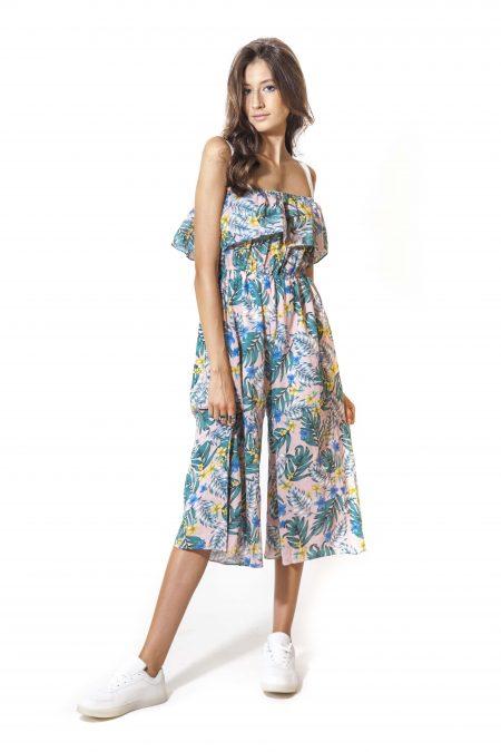 אוברול קיץ פרחים פרחוני הדפס אונליין קניות שופינג צבעים